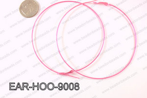 Hoop Earring 1.2mm thick x 90mm Light pink EAR-HOO-9008