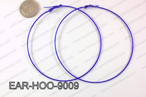 Hoop Earring 1.2mm thick x 90mm dark blue EAR-HOO-9009