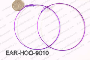 Hoop Earring 1.2mm thick x 90mm Purple EAR-HOO-9010