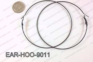 Hoop Earring 1.2mm thick x 90mm Black EAR-HOO-9011