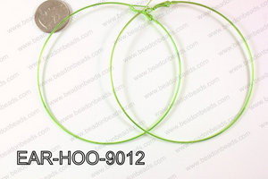Hoop Earring 1.2mm thick x 90mm Light Green EAR-HOO-9012