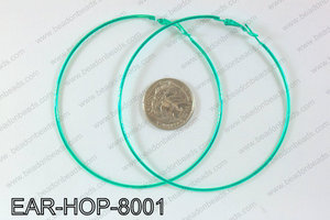 Hoop Earrings 80mm EAR-HOP-8001 Green