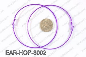 Hoop Earrings 80mm EAR-HOP-8002 Purple
