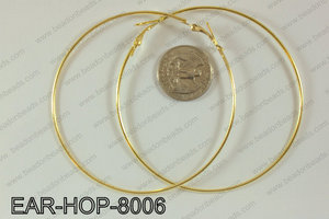 Hoop Earrings 80mm EAR-HOP-8006 Gold