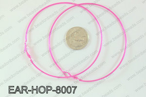 Hoop Earrings 80mm EAR-HOP-8007 Hot Pink