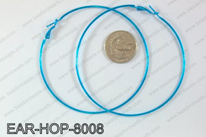Hoop Earrings 80mm EAR-HOP-8008 Light Blue