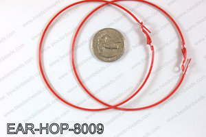 Hoop Earrings 80mm EAR-HOP-8009 Red