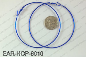 Hoop Earrings 80mm EAR-HOP-8010 Dark Blue