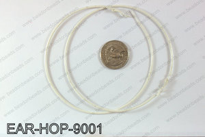 Hoop Earrings 90mm EAR-HOP-9001 White