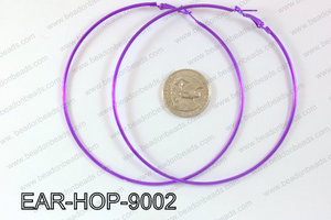 Hoop Earrings 90mm EAR-HOP-9002 Purple