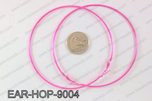 Hoop Earrings 90mm EAR-HOP-9004 Hot Pink
