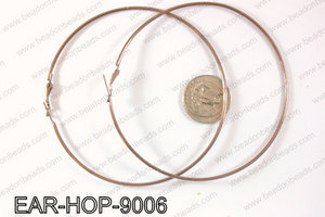 Hoop Earrings 90mm EAR-HOP-9006 Brown