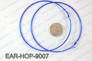 Hoop Earrings 90mm EAR-HOP-9007 Dark Blue