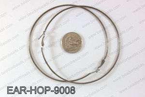Hoop Earrings 90mm EAR-HOP-9008 Gun Metal