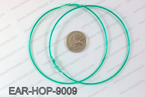 Hoop Earrings 90mm EAR-HOP-9009 Green