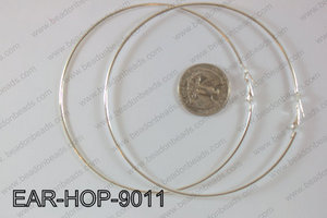 Hoop Earrings 90mm EAR-HOP-9011 Light Silver