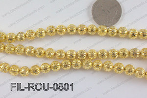 Base Metal Filligree Round Gold 8mm FIL-ROU-0801