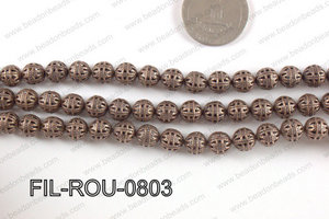 Base Metal Filligree Round Copper 8mm FIL-ROU-0803