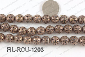 Base Metal Filligree Round Copper 12mm FIL-ROU-1203
