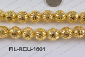 Base Metal Filligree Round Gold 16mm FIL-ROU-1601
