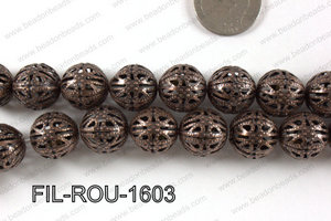 Base Metal Filligree Round Copper 16mm FIL-ROU-1603