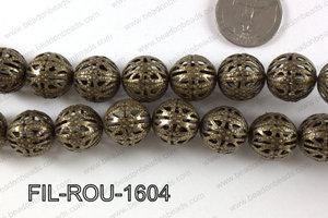 Base Metal Filligree Round Bronze 16mm FIL-ROU-1604
