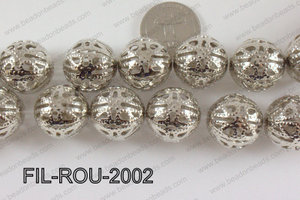 Base Metal Filligree Round Anti Silver 20mm FIL-ROU-2002