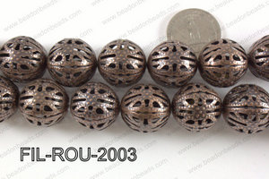 Base Metal Filligree Round Copper 20mm FIL-ROU-2003