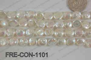Freshwater Pearl Coin White 11-13mm FRE-CON-1101