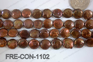 Freshwater Pearl Coin Brown 11-13mm FRE-CON-1102