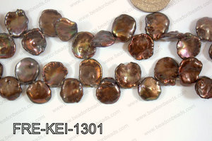 Freshwater Pearl Keishi Brown 12-13mm FRE-KEI-1301