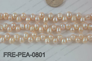 Freshwater Pearl Peach 6x8mm FRE-PEA-0801