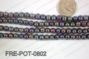 Freshwater Pearl Potato Dark Blue  7-8mm FRE-POT-0802