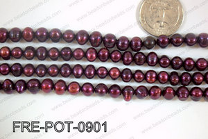 Freshwater Pearl Potato Dark Purple 8-9mm FRE-POT-0901