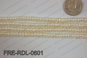 Freshwater Pearl Rondel White 6mm FRE-RDL-0601