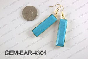 rectangle earring GEM-EAR-4301