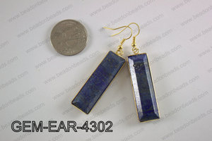 rectangle earring GEM-EAR-4302
