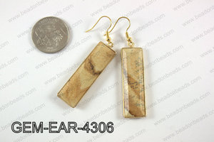 rectangle earring GEM-EAR-4306