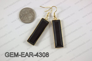 rectangle earring GEM-EAR-4308