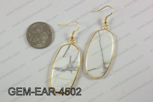 oval earring GEM-EAR-4502