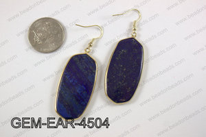 oval earring GEM-EAR-4504