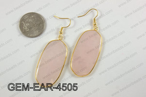 oval earring GEM-EAR-4505