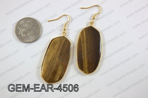oval earring GEM-EAR-4506
