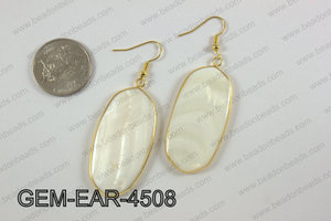 oval earring GEM-EAR-4508