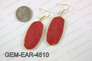 oval earring GEM-EAR-4510