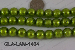 Glass Lampwork Green 14mm GLA-LAM-1404