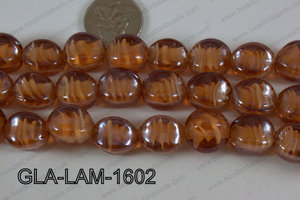Glass Lampwork Nugget Brown 16mm GLA-LAM-1602