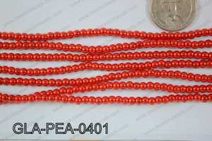 Glass Pearl Round 4mm Red GLA-PEA-0401