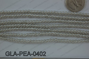 Glass Pearl Round 4mm Grey GLA-PEA-0402
