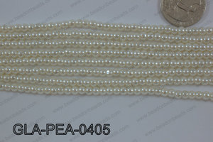 Glass Pearl Round 4mm Cream GLA-PEA-0405